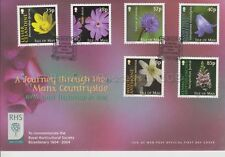 Unaddressed Isle of Man FDC First Day Cover 2004 Manx Countryside Alan Titmarsh