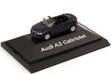 1:87 Audi A3 Cabriolet 8P Bleu foncé bleu bleu - Dealer-Edition OEM herpa