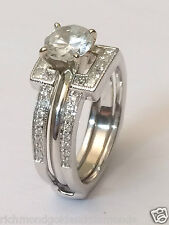 1/2 Ct Solitaire Enhancer Diamonds 14k White Gold Ring Guard Wrap