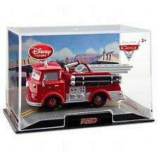 Disney Store Cars 2 Die Cast Collector Case Red Fire Engine Truck 1:43 Scale NEW