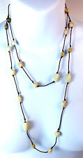 Layered Brand New Fast Delivery (A5) Elegant White Multi Stone Necklace Long