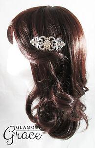 Beatrix vintage wedding bridal comb silver crystal headpiece hair accessory