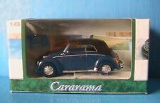VW COCCINELLE BEETLE 1300 CABRIO BLUE CARARAMA 1/43 NEW