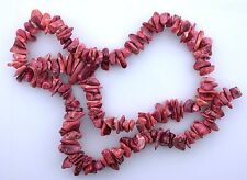 Peach Red Natural Dyed Coral 16 Inch Strand Chip Bead Gem Stone Gemstone cb24
