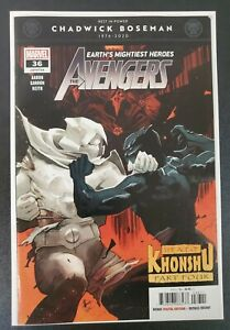 Avengers #36 (2020 Marvel) Moon Knight vs Black Panther   Scalera Cover