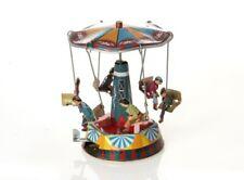 Mechanisches Kettenkarussel orange - Nostalgisches Blechspielzeug