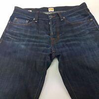 HUGO BOSS ORANGE 25 Mens Jeans W33 L34 Dark Blue Regular Fit Straight Mid Rise