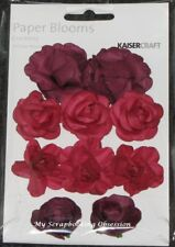 Kaisercraft Scrapbooking Paper Blooms 10pc Over 20 Colours to Choose From Cranberry
