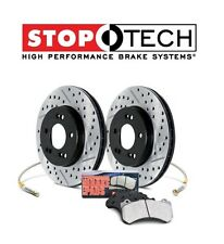 Honda S2000 Front Drilled & Slotted Brake Rotors + Pads KIT StopTech 978.40002F