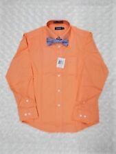 Boys IZOD $30 Red or Orange Dress Shirts w/ Bow Ties Sizes 8 - 20