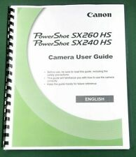 Canon PowerShot SX260/240 HS  Instruction Manual: 246 Pages & Protective Covers