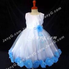 Robes bleu à motif Floral pour fille de 0 à 24 mois