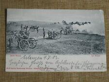 Original WWI Photo Postcard GERMAN FIELD ARTILLERY GUN BATTERY IN ACTION 150