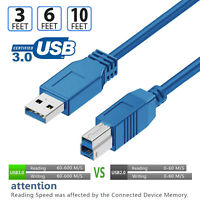 Lot 3FT 6FT 10FT 15FT USB 2.0/3.0 Printer Cable A Male to B Male Extension Wire