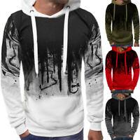 Warm Mens Jacket Coat Sport Hoodie Hooded Pullover Casual Fleece Tops Sweatshirt