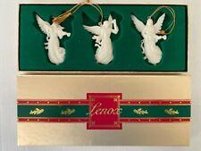 Lenox Renaissance Angels Set 3 Christmas Ornaments Mandolin, Trumpet, Violin