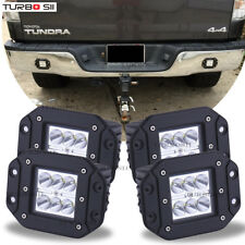 Toyota Tundra 4Runner Flush Mount Backup Reverse Rear+Front Bumper 4x Led Lights