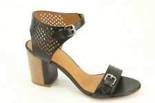 $328 NEW Marc by Marc Jacobs Diamonds Black Leather High Heels Sandals 8 / 38.5