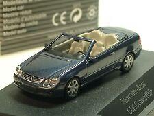 Busch Mercedes CLK Cabrio, azul-Met., traficantes Model-PC 1347 - 1/87