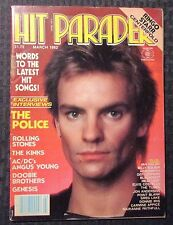 1982 March HIT PARADER Magazine FN- 5.5 Sting Police AC/DC Stones Kinks Genesis