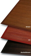 Bambù tappeto 3 mm PARQUET marrone scuro 140x200 cm con 5CM baumwollbordüre