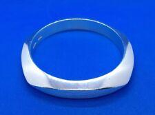 Tiffany Co Sterling Silver Square Knife Edge Bangle Bracelet