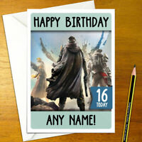 DESTINY Personalised Birthday Card - titan warlock hunter personalized gamer