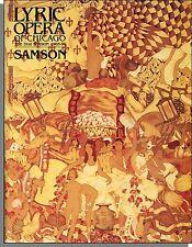 Lyric Opera of Chicago Program - 1985 - Handel's Sampson!