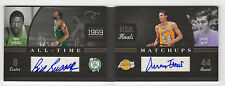 2010-11 Panini Elite Black Bill Russell Jerry West Auto All-Time Matchups #3/10