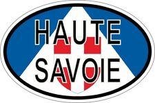 Autocollant sticker ovale oval drapeau code pays departement haute savoie