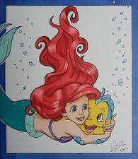 Ariel Flounder The Little Mermaid drawing art fanart Disney princess artwork