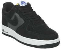 Mens Size 11.5 Nike Air Force 1 Black White Suede Limited Edition Sponge Tongue