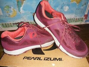 Pearl Izumi W X-Alp Canyon Women's Burgundy Cycling Shoes US 10.USED with BOX