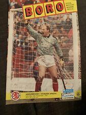 1991 Middlesbrough V Charlton Athletic Football Programme