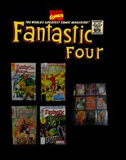 Marvel FANTASTIC FOUR 4 Unlimited Issue #1, 233, 368 & 247 Comics Set with Cards