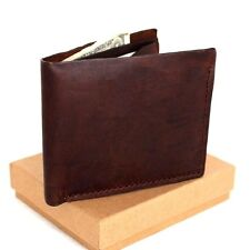 Genuine Leather mens vintage handmade wallet Card Holder slim small Thin Retro S