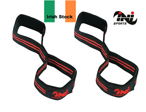 INI Weight Lifting Figure 8' Gym Straps Bodybuilding Wrist Support