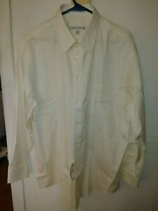 "Joseph & Feiss Man Business Shirt Beige Size 161/2 32/33"" Non Iron Classic Fit"