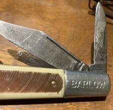 Vintage Imperial  USA Barlow 2-Blade Folding Pocket Knife -BONE HANDLE