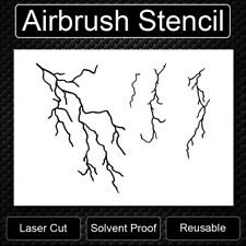 Standard Lightning Background Reusable Airbrush Stencil Template Free Shipping