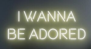Stone Roses neon sign/ wall art / bar Sign/ I Wanna Be Adored- Any Colour