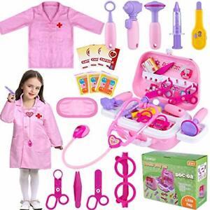 TEPSMIGO Toy Doctor Kit for Girls 22 Piece Kids Girls Ages 3 4 5 6 7 Year Old