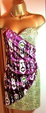 Gorgeous NEW  'H&M' Party Bodycon Ruched Embellished Dress 10 BNWT  £29.99