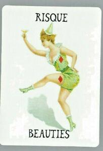 Genuine Swap Vintage Playing Card Advertising Beauties