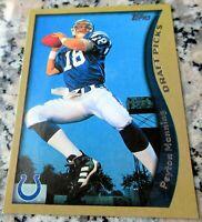 PEYTON MANNING 2010 Topps Reprint 1998 Rookie Card RC 2 Superbowl Rings HOF MVP