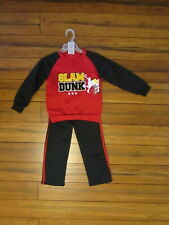 Boys Size 4  Tuff Guys Black & red Sports Sweatshirt-Pants 2 piece set NEW
