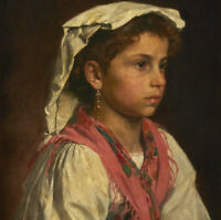 """high quality oil painting handpainted on canvas """"Young Italian girl"""""""