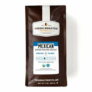 Mexican SWP Decaf   Whole Bean Coffee   Fresh Roasted Coffee