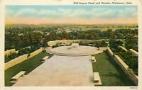 LINEN Postcard OK E090 Will Rogers Tomb and Garden Claremore Okla Curteich