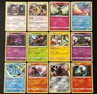 Lot des 12 Cartes Pokemon /111 HOLO Soleil et Lune 4 SL4 Invasion Carmin FR NEUF